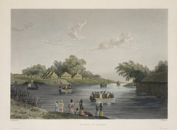 'Riviere de Yanaon'. Coloured aquatint by Himely after Lauvergne. Probably published in Paris, c.1830